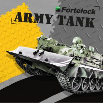 Fortelock – la piastrella in pvc industriale resistente persino ai carri armati  Letteramente!